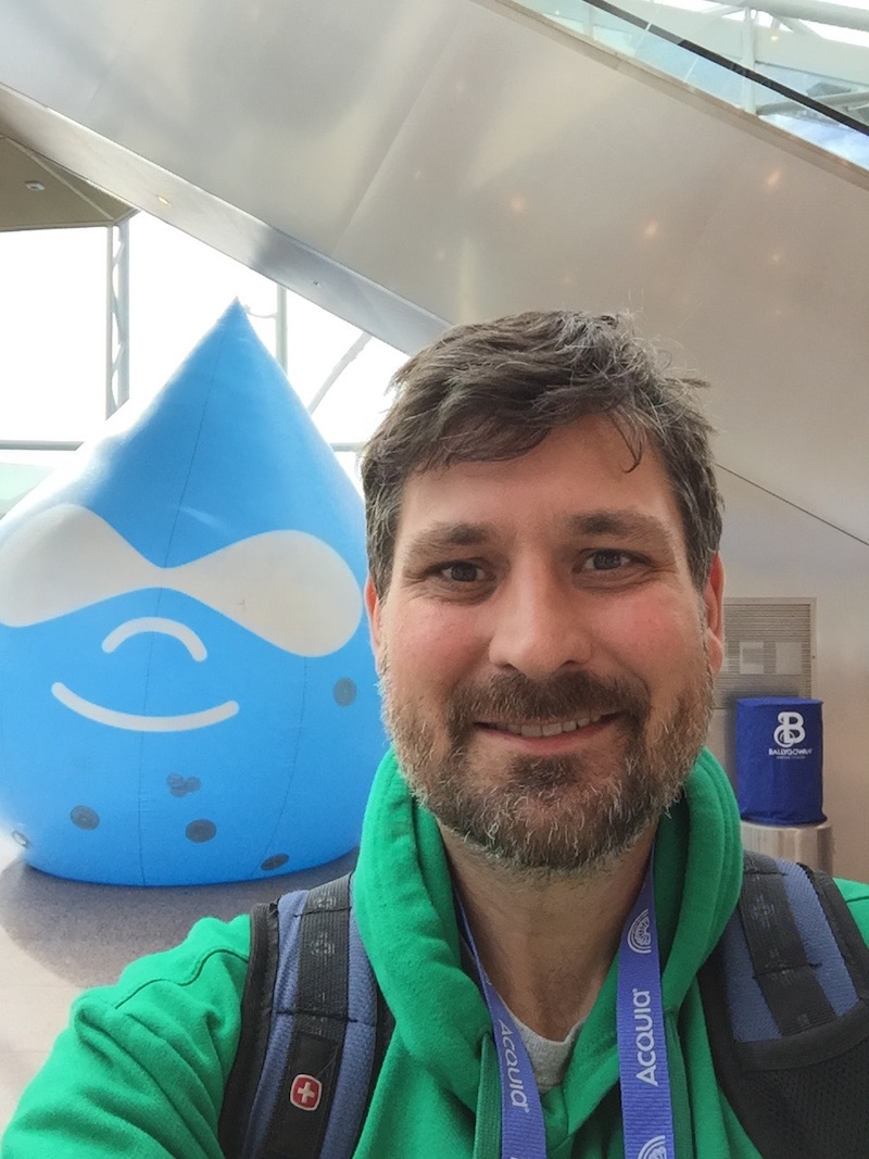 Jochen arriving at DrupalCon Dublin