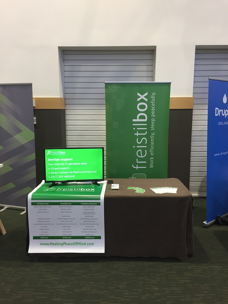 The freistilbox stand at DrupalCon Dublin 2016
